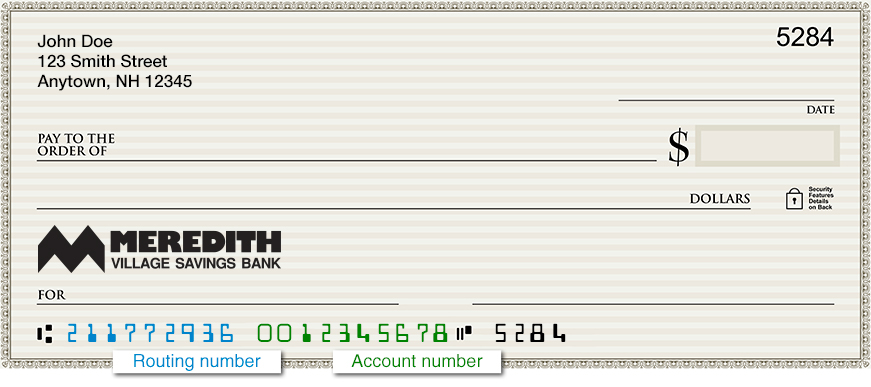 Routing Number - Meredith Village Savings Bank